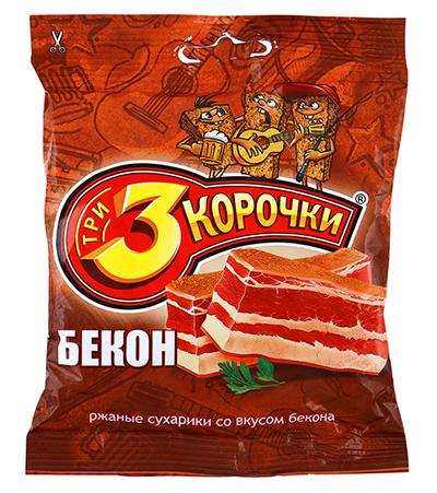 Сухари 3 корочки вкус Бекона