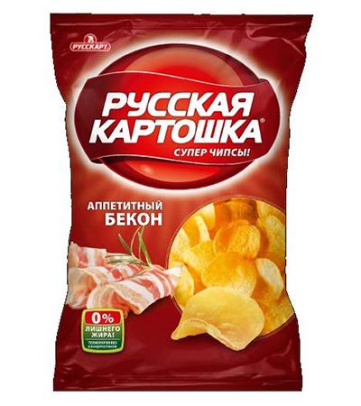"""Русская Картошка """"Бекон""""150г"""