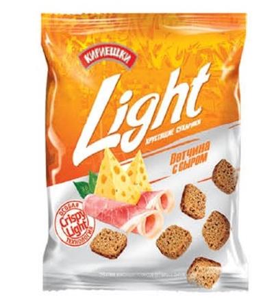 Кириешки Light хрустящие сухарики Ветчина с сыром